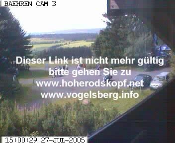 BAEHRENCAM3 auf dem Hohenrodskopf zeigt stündlich die aktuellen Bilder am Breungeshainer Hang